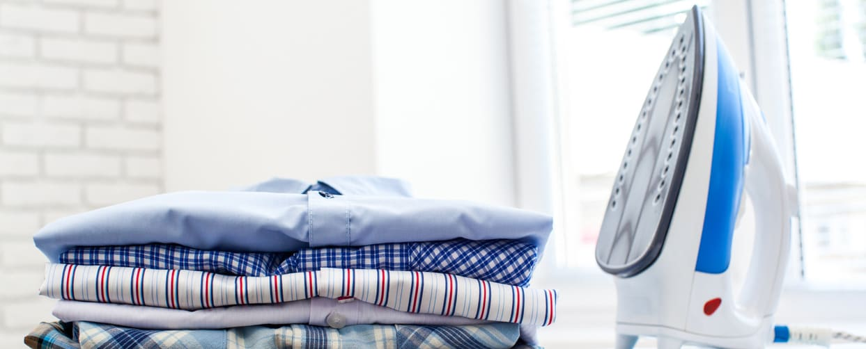 in-home steam ironing shirts and laundry service